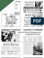 Versión impresa del periódico El mexiquense 22 de octubre 2012