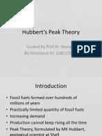 Hubbert's Peak Theory