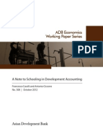 A Note to Schooling in Development Accounting