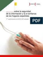 Estudio sobre la seguridad de la información y la e-confianza de los hogares españoles (1er cuatrimestre de 2012)