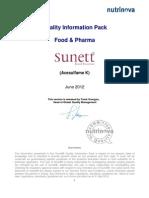 Sunett Quality Info Pack