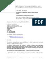 NAS Cymru Forward in Partnership SEN.an Response 191012