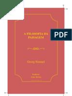 Simmel Georg Filosofia Da Paisagem