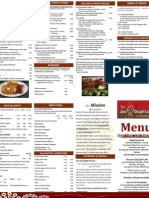 The Java DeLight Cafe Weekday Menu