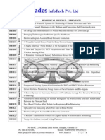 Biomedical IEEE 2012 Project List from Hades InfoTech