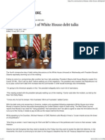 Obama Storms Out of White House Debt Talks