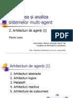 Sisteme multiagent. Arhitecturi de agenti 1
