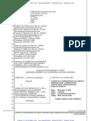2054 - Oppn Re Perm Inj | Apple Inc  | Injunction