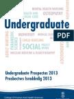 College of Human and Health Sciences Undergrad Prospectus 2013