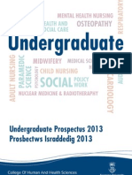 College of Human and Health Sciences Undergrad Prospectus 2013