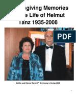 Helmut Tanz - Tribute from a friend