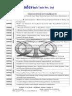 Wireless IEEE 2012 Project List from Hades InfoTech