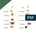 Les Aliments 1