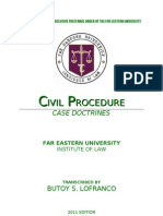 [BSL] CASE DOCTRINES IN CIVIL PROCEDURE (BRONDIAL)