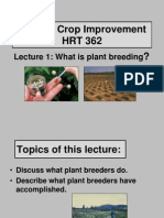 Lecture 1. What is Plant Breeding