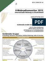 120716 Goldmedia Webradiomonitor 2012