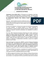 COMUNICADO  INAUGURACIÓN SIEPAC 16-10-2012