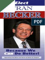 Fran Becker for U.S. Congress NY-4 Palm Card 2012