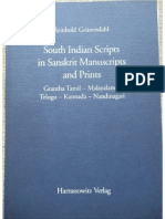 Some Indian Scripts in Sanskrit Manuscripts and Prints - Reinnhold Grunendahl