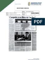 Informe de prensa semana del 11 al 19 de octubre de 2012