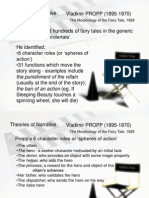 Narrative Theories for Genre Exam