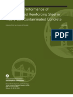 Long-Term Performance of Epoxy-Coated Reinforcing Steel in Heavy Salt- Contaminated Concrete