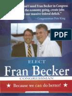 Congressman Peter King Endorses Fran Becker for U.S. Congress NY-4