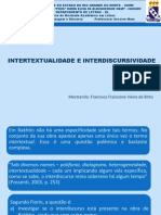 INTERTEXTUALIDADE-INTERDISCURSIVIDADE