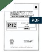 Un Smp Inggris 2007-2008 c2 p12 Paket A
