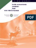 Les collectivités autochtones et le développement des ressources non renouvelables