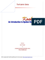 Introduction to Spoken Kashmiri- Sunil Fotedar