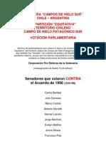 Chile - Argentina, Frontera de Campos de Hielo Sur, Votación Parlamentaria