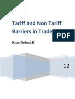 Tariff and Non2