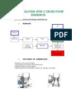 Generalites de l'Injection Essence
