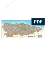 Asturias - Mapa Carreteras Sobre Topografico (Alta Calidad) (Ash2056)