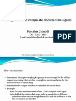 An Algorithm for Interpolate Discrete Time Signals