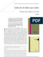 Los Restos de Un Futuro Que Vuelve. Sobre Literal y Los Libros - Diego Peller
