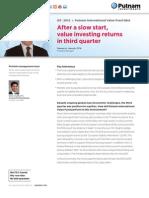 Putnam International Value Fund Q&A Q3 2012