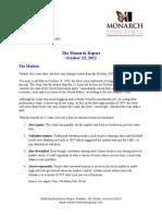 The Monarch Report 10/22/2012