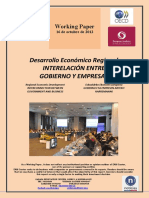 Desarrollo Económico Regional. INTERRELACION ENTRE GOBIERNO Y EMPRESAS (Es) Regional Economic Development. INTERCONNECTION BETWEEN GOVERNMENT AND BUSINESS (Es) Eskualdeko Ekonomi Garapena. GOBERNU ETA ENPRESEN ARTEKO HARREMANAK (Es)