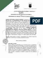 Convenio Marco de Cooperaciòn Académica, Científica y Cultural entre la Universidad de San Carlos de Guatemala y la Universidad de Ciencias y Artes de Chiapas, MÈXICO.