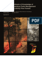 Synthesis of Knowledge of Hazardous Fuels Management in Loblolly Pine Forests