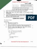 CBSE Class 12 Computer Science Exam Paper 2011 Set 1