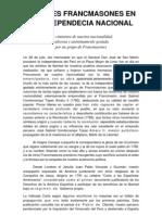 Ilustres Francmasones en La Independecia Nacional