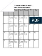 October Group Fitness Schedule