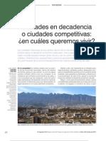 Ciudades en Decadencia o Ciudades Competitivas