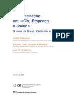 MARISCAL, JUNQUEIRA, GUTIÉRREZ - A Capacitação em TIC's, Emprego e Jovens O caso do Brasil, Colômbia e México