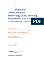 MARISCAL, JUNQUEIRA, GUTIÉRREZ - Information and Communication Technology (ICTs) Training, Employment and Youth The case of Brazil, Colombia and Mexico