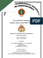 Seminar Report Format vtu 8th sem