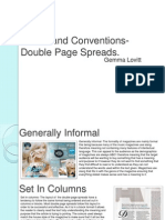 Codes and Conventions-Double Page Spreads